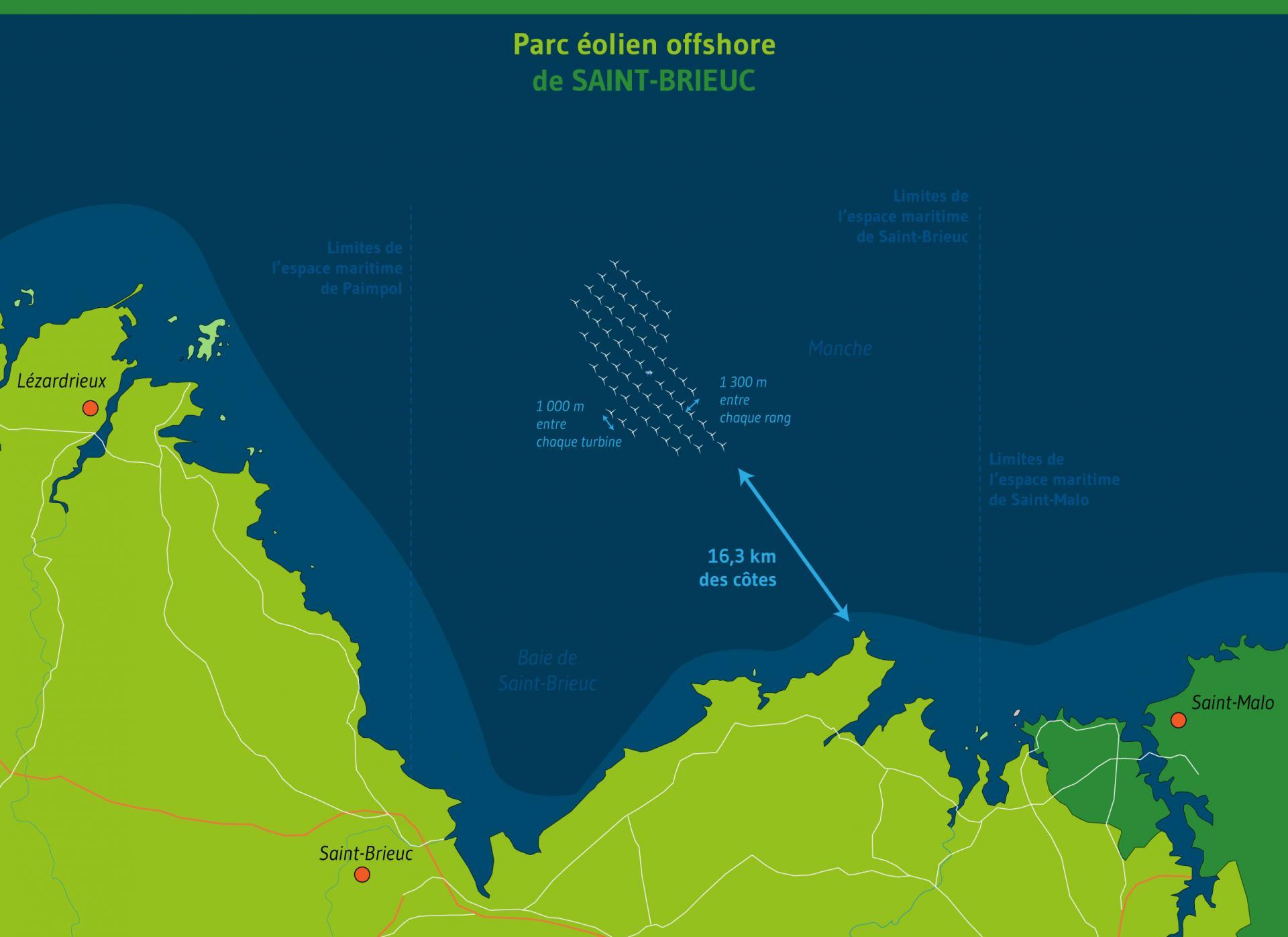 Map of Saint-Brieuc Offshore wind farm